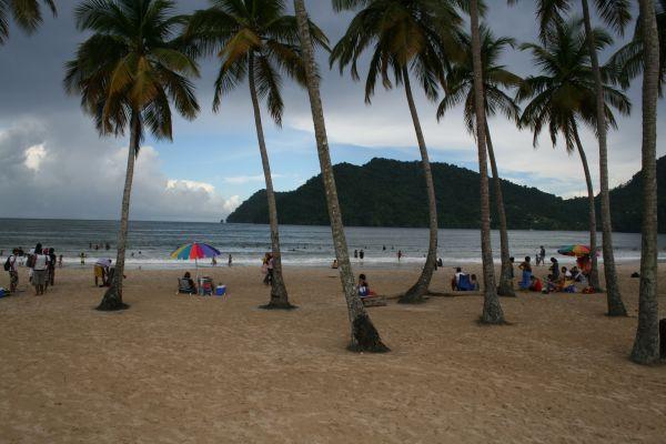 Maracas bay på Trinidad