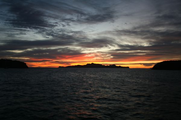 Solnedgång på Tobago Cays