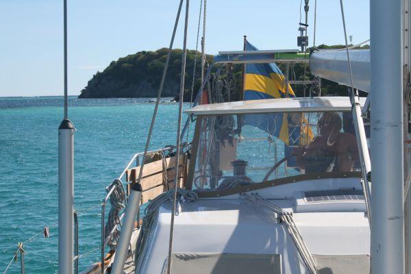 Vi lämnar Tobago Cays och seglar norrut